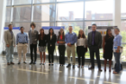 Most of the REU participants and the CSEE faculty mentors.