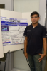 "Swetank Kumar Saha (PhD candidate) presents ""A First Look at TCP Performance in Indoor IEEE 802.11ad WLANs"". Swetank's PhD advisor is Dimitrios Koutsonikolas. Photo credit: Ken Smith"