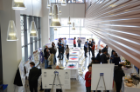 Grad students pitch their research projects at CSE Student Poster Session '13. Photo credit: Ken Smith