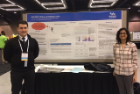 "Jacob Condello (CEN BS '17) and Simran Singh present their poster, ""Building Tools & Gathering Data"", at SIGCSE 2017 in Seattle. The poster describes work stemming from Bina Ramamurthy and Carl Alphonce's 2015 UB Center for Educational Innovation (CEI) seed grant on pedagogical innovation. Photo credit: Carl Alphonce"