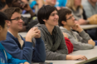 Students get inspired at the UB Hacking '15 event opener, November 14, 2015. Photo credit: Ken Smith