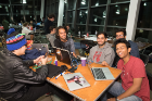 Students collaborate at UB Hacking '16, November 5, 2016. Photo credit: Ken Smith