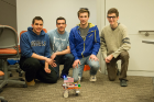 Students pose with their rover at UB Hacking '14, April 5, 2014. Photo credit: Ken Smith