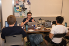 Students at UB Hacking '15, November 14, 2015. Photo credit: Ken Smith