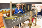 """Calcestruzzo,"" which translates to concrete in Italian, was created by the 2015 concrete canoe team in the style of a Venetian gondola. The team successfully implemented a pretensioning system, eliminating all flexural cracks in the canoe."