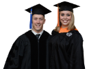 Sarah Jo Crofts, biomedical engineering, and Charles Jones, chemical and biological engineering, were the student speakers at this year's commencement ceremony.