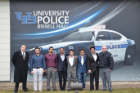 Graduate students from the Department of Industrial and Systems Engineering, Dhruvay Jain, Omar A. Siddiqui, Piyush Nain, Amit Nanal, Aniket Khalekar and Abhishek Sarma, solved a difficult and ongoing problem for UB's Police Department related to providing the campus with adequate police coverage while still allowing officers to choose desirable schedules.