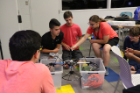 Campers teamed up to work on this year's drone project during classroom sessions.