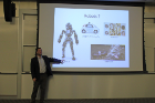 Nils Napp, an assistant professor in the Department of Computer Science and Engineering, describes how robots are used for many monotonous or dangerous tasks and gave examples of different types of robots.
