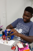 Students learned to build and program their own robots.