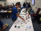 Classroom sessions: Students use the engineering process to design and develop a remote control car, track and navigation system. The activity is led by Brian Smith, EduSerc