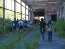 The tour gave students a close-up look at Buffalo's industrial heyday.