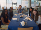 Students at the etiquette lunch.