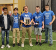 SEAS students placed second at the 2019 Annual SUNY TYESA UAV State Competition held at Monroe Community College. From left are: Aryan Dahad, Spencer Gustavson, Stephen Durko, Josh Middleton (Team Captain) and Andrew Slisher.