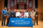 Electrical engineers inducted into the Order of the Engineer.