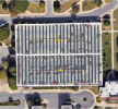 Design of a solar installation of a carport system on a parking garage.