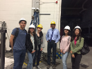 NU civil engineering students visit the earthquake labs at UB; photo provided by Viktoriya Tsoy.