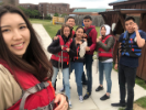 Students prepare to kayak on Lake LaSalle; photo provided by Viktoriya Tsoy.