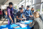 Graduate students check in at the Fourth Annual Career Perspectives and Networking Conference, an event which featured lightning talks, a networking reception and panel discussions with industry leaders.
