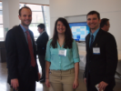 CPNC organizer Andrea Sacco, Co-Chair and Vice President of the Civil, Structural and Environmental Engineering Graduate Student Association, with fellow students at the April 2016 event.