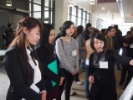 Graduate students during the April 2016 poster competition.
