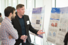 Kyle Indiana Mentkowski, Department of Biomedical Engineering, presents his research to SCiRM fellow George Techiryan, Department of Pharmacology and Toxicology.