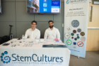 Pictured left to right are Jorge Romero and Marco Pavlin from StemCultures, industry sponsor of the 1st Annual Stem Cells in Regenerative Medicine Symposium.