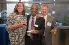 Melanie Bunch, Krishna Rajan and Andrew Whittaker at the Fourth Annual SEAS Awards Night.