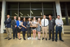 Student scholarship recipients pose with UBEAA board members.
