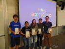 First place winners received new Google Homes, Google's brand of smart speakers.