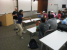 Nisha Chaudhari kicked off the event by asking students to share their thoughts on some sample resumes.