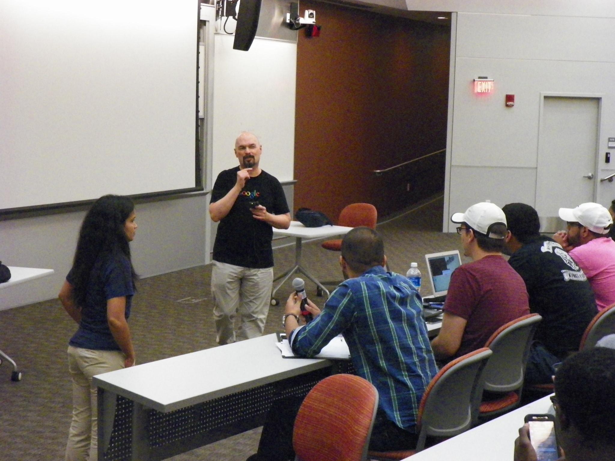 two computer science alums bring google to ub s davis hall ub