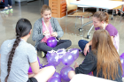 TINKER, an engineering camp for high school girls, kicked off with a team building exercise. The camp was hosted by the School of Engineering and Applied Sciences on Aug. 7-11, 2017.