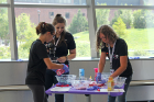 During Cosmetic Chemistry, campers had fun concocting pedicure bath bombs while learning about the chemistry behind the recipe.