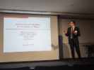 Filippo Malandra from UB's Department of Electrical Engineering talked about the state of the art, the challenges and possible solutions for wireless networks modeling of the Internet of Things.