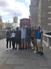 The students visited London as part of UB's School of Engineering and Applied Sciences - Swansea Study Abroad program. From left are Peter Bui, Emily Segelhurst, Sakib Ahmed, Eric Forrest, Alex Dunn, Leo Chen, Daniel Cannon and Anthony Destaso.