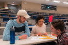 This spring's Career Conversations, a student-alumni career networking night designed to link experienced UB alumni with current UB students and recent graduates, featured SEAS alumni Bob Harrison, Vice President of Engineering and Construction at Transmission Developers, Inc.