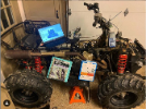 Sam Stoelting: This is my classroom! What better place to work than on a project of your own. This is on my current project of rebuilding a Polaris sportsman 600 while still learning all my school work such as physics and calculus.
