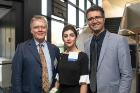 Joe Atkinson, CSEE chair and professor, with Maliheh Karamigolbaghi and Aliakbar Alamdari.