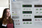 Jacqueline Reid studied inflammatory glial responses for her project in the Summer Undergraduate Research Experience at UB.