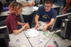 The activities included learning how sensors and other electrical engineering components work.