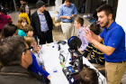 Dave Evans explains the workings of a 3-D printer.