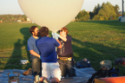 The weather balloon experiment is part of a project called LinkSat, led by UB faculty member Manoranjan Majji and supported by NASA.