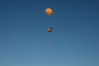 The balloon flew roughly 20 miles into the sky and traveled 100 miles east to Geneva, N.Y., before bursting due to thinning atmospheric pressure. The instruments, which landed in a field, measured radio frequency noise, important in satellite applications, as a noisier environment makes communication with the spacecraft more difficult.