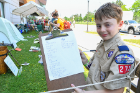Aaron Belanger with his best camping practices checklist.