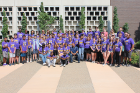 About 60 students from Buffalo area high schools spent four days at UB learning about careers in the STEM fields and experiencing campus life. Photo: Sarah D'Iorio