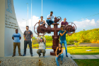 UB students pose for a picture at the Miravalles geothermal power plant.