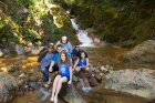 The students take a break for some ecotourism at Las Hornillas mud pits and waterfalls.
