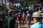 The students took a day trip to the El Viejo sugar mill in Guanacaste Province, which is the largest sugar producer in Costa Rica and also generates 1.5 percent of the nation's electricity.