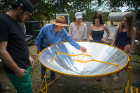 A guide explains the process of solar cooking.